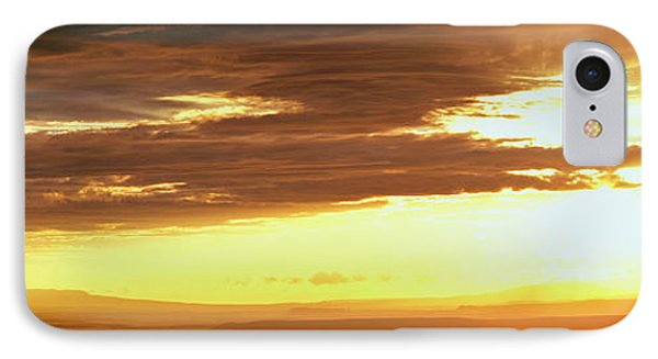 Sunset From The Rim Of Canyon De Chelly IPhone Case by Panoramic Images