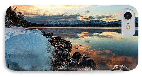 Sunset Frozen IPhone Case by Aaron Aldrich