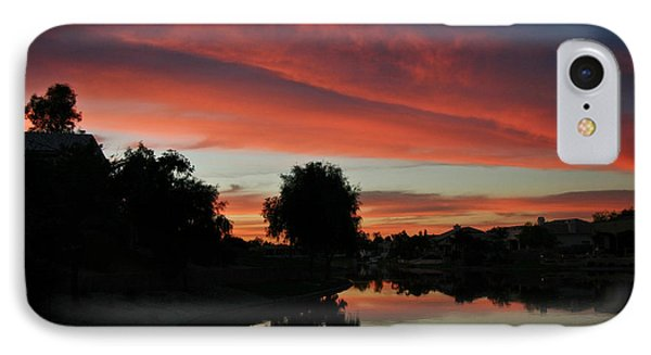 IPhone Case featuring the photograph Sunset Gilbert Arizona 2004 by Ron Chilston
