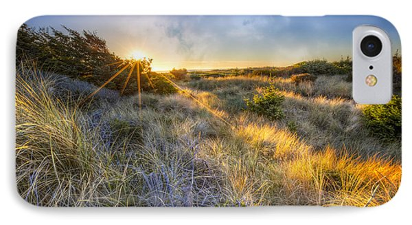 Sunset Glow On The Dunes IPhone Case by Debra and Dave Vanderlaan