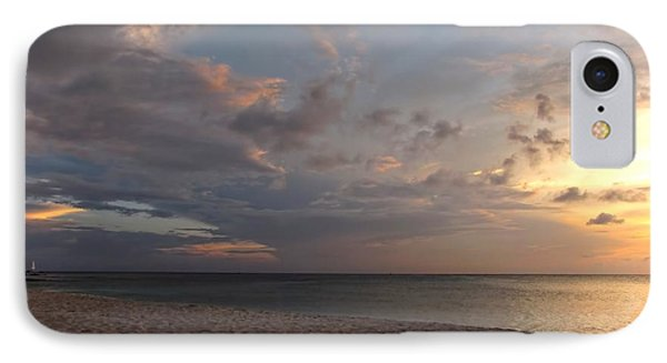 Sunset Grand Cayman Phone Case by Peggy Hughes