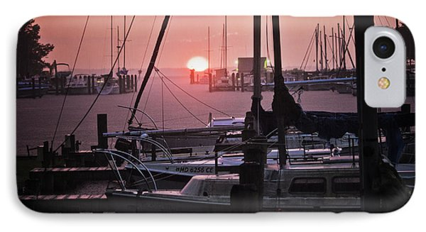 Sunset Harbor IPhone Case by Kelly Reber