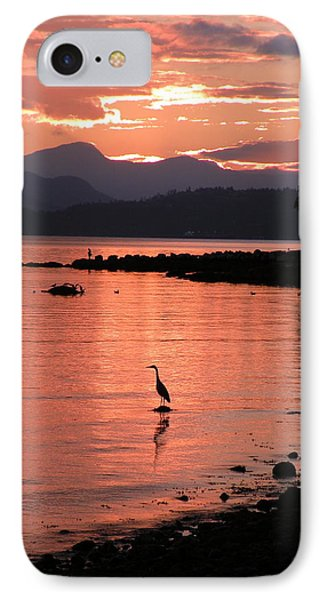 Sunset Heron IPhone Case by Brian Chase