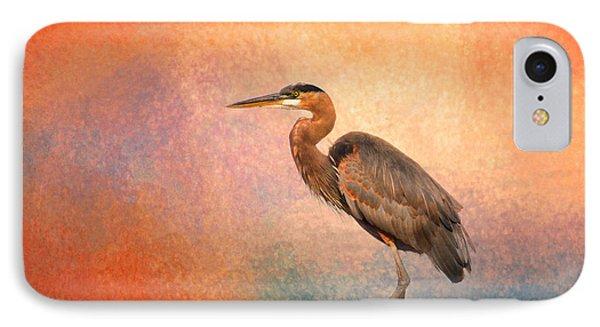Sunset Heron IPhone Case by Jai Johnson