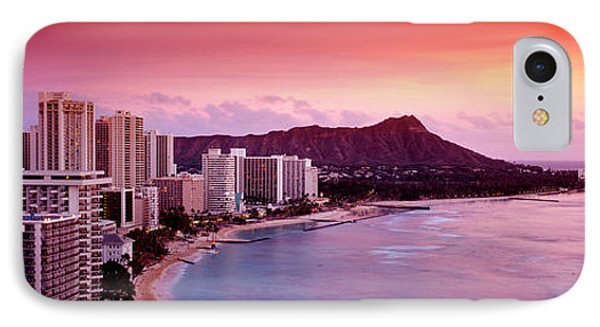 Sunset Honolulu Oahu Hi Usa IPhone Case by Panoramic Images