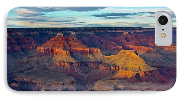 Sunset, Hopi Point, South Rim, Grand IPhone Case by Michel Hersen
