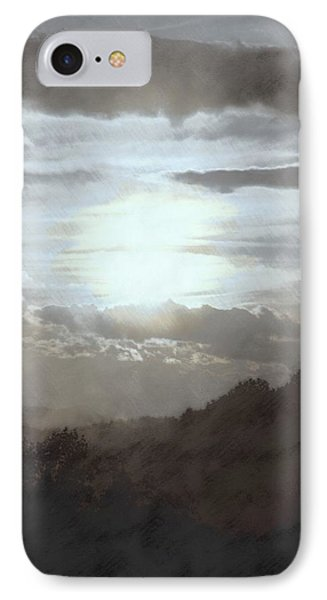 Sunset Impressions Over The Blue Ridge Mountains IPhone Case by Photographic Arts And Design Studio