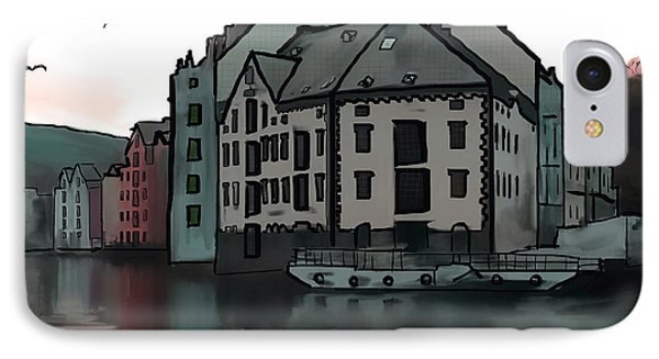Sunset In Alesund IPhone Case by Michael Hodgson