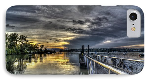 Sunset In Beacon Ny IPhone Case by Rafael Quirindongo