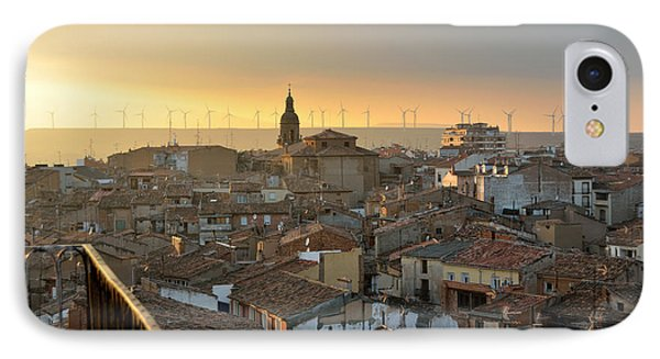 Sunset In Calahorra From The Bell Tower Of Saint Andrew Church Phone Case by RicardMN Photography