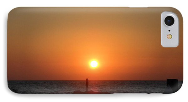 Sunset In Captiva IPhone Case by Val Oconnor
