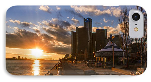 Sunset In Detroit  IPhone Case by John McGraw