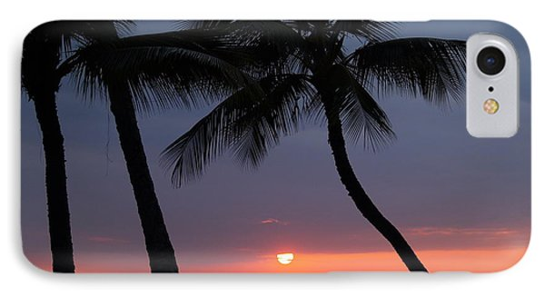 Sunset In Hawaii IPhone Case by Athala Carole Bruckner