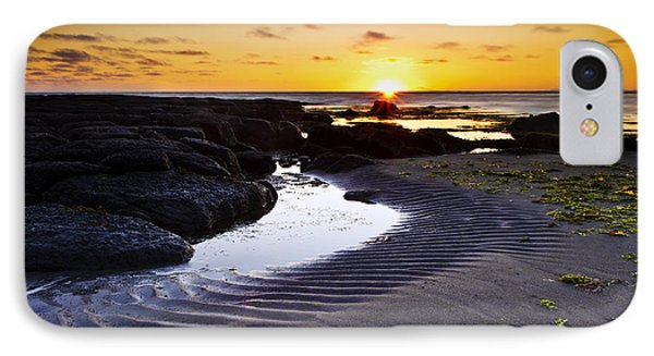 Sunset In Iceland IPhone Case by Gunnar Orn Arnason