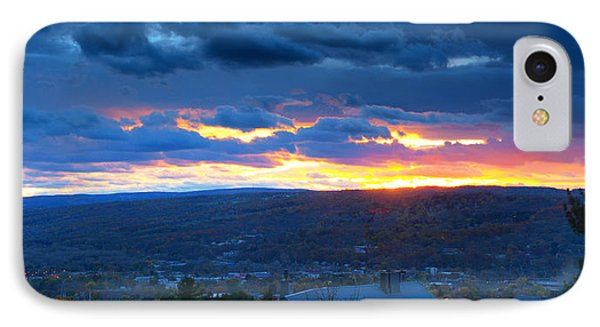 Sunset In Ithaca New York Panoramic Photography IPhone Case by Paul Ge