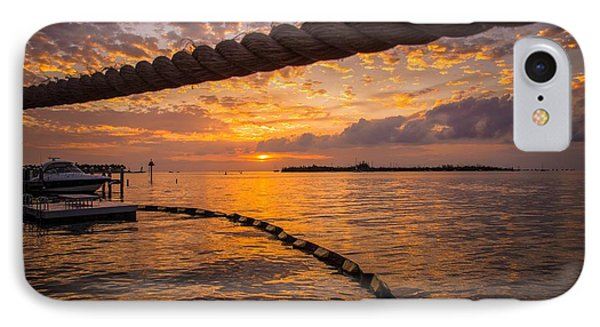 Sunset In Key West IPhone Case by Maria Robinson