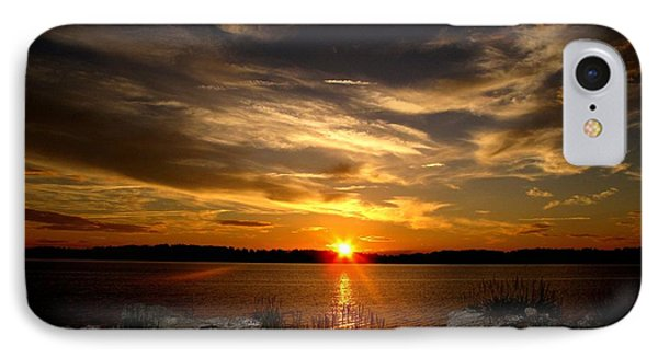 Sunset In Maine IPhone Case by Donnie Freeman