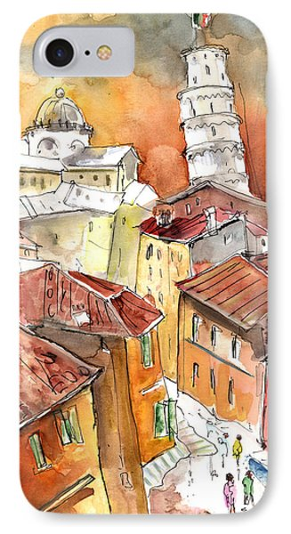 Sunset In Pisa Phone Case by Miki De Goodaboom