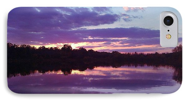 Sunset In Purple Phone Case by R McLellan