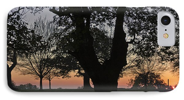 Sunset In Richmond Park IPhone Case by Maj Seda