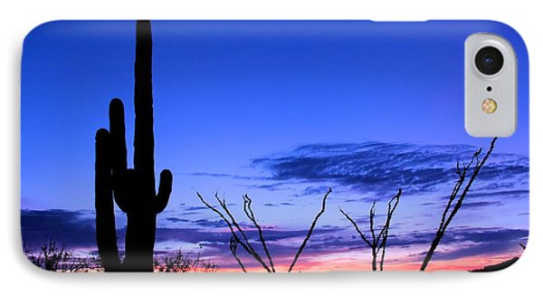 Sunset In Saguaro National Park IPhone Case by Elizabeth Budd