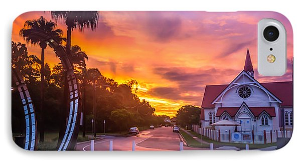 IPhone Case featuring the photograph Sunset In Sandgate by Peta Thames