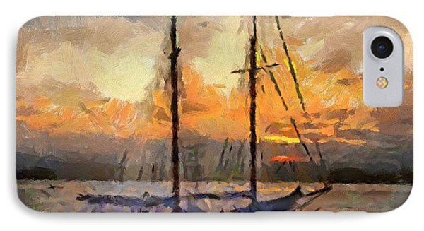 Sunset In The Bay Phone Case by Dragica  Micki Fortuna