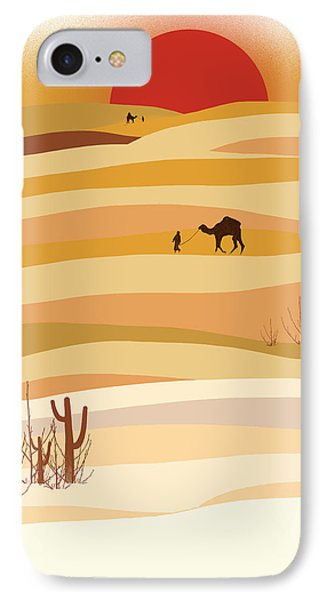 Desert iPhone 7 Case - Sunset In The Desert by Neelanjana  Bandyopadhyay