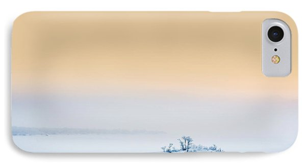 Sunset In The Frozen Landscape, Cold IPhone Case by Panoramic Images