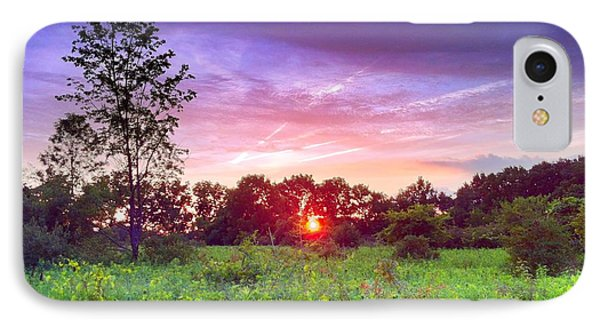 Sunset In The Park  IPhone Case