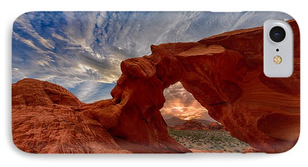 Sunset In The Valley Of Fire IPhone Case by Rick Berk