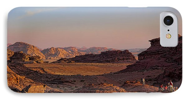 Sunset In The Wadi Rum Desert Jordan IPhone Case