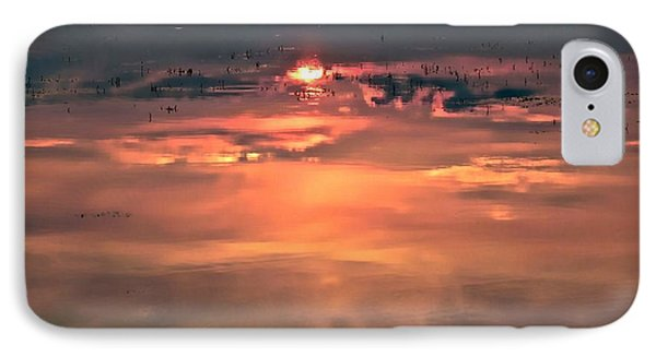 IPhone Case featuring the photograph Sunset In The Water by Michaela Preston