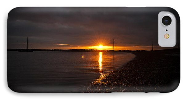 Sunset In West Mersea IPhone Case by David Isaacson