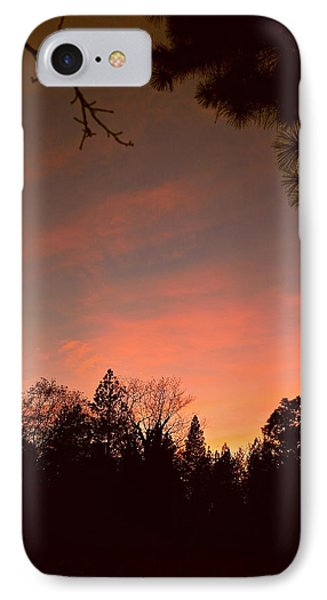 Sunset In Winter IPhone Case by Michele Myers