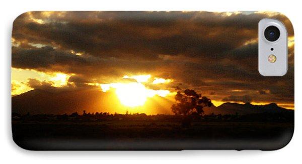 Sunset In Worcerster Phone Case by Willinda Swart