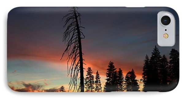 Sunset In Yosemite IPhone Case by Debra Thompson