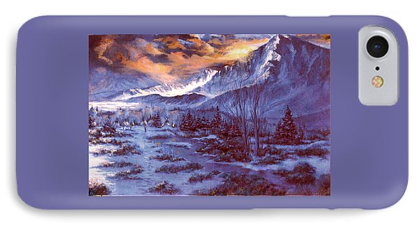 Sunset Indian Village IPhone Case by Donna Tucker