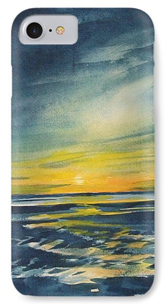 IPhone Case featuring the painting Sunset by Jane See