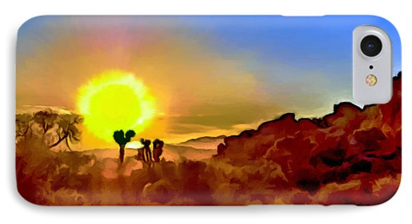 Sunset Joshua Tree National Park V2 IPhone Case by Bob and Nadine Johnston