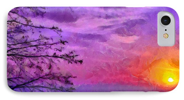 Sunset Lake Phone Case by Anthony Caruso