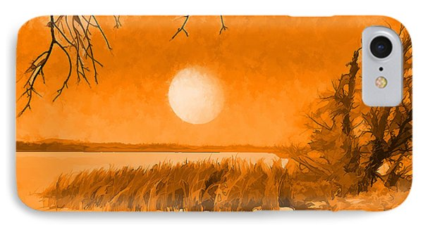 IPhone Case featuring the digital art Calm Lake Under Full Moon - Boulder County Colorado by Joel Bruce Wallach