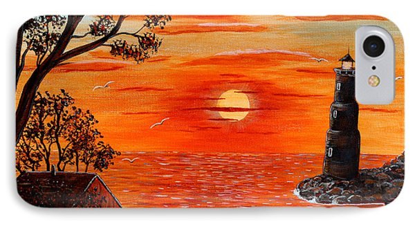 Sunset Lighthouse Phone Case by Barbara Griffin