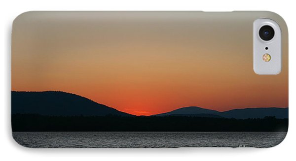 Sunset Lines Of Lake Umbagog  IPhone Case by Neal Eslinger
