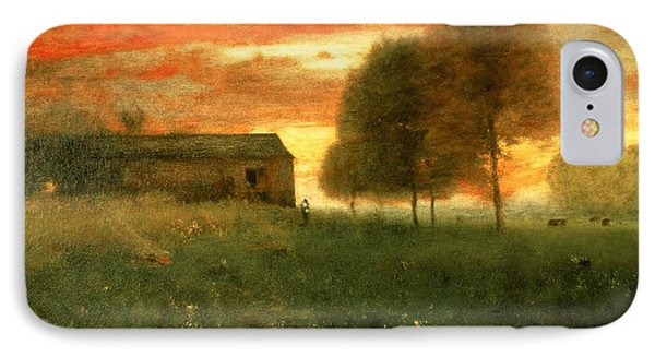 Sunset, Montclair, 1892 IPhone Case by George Snr. Inness