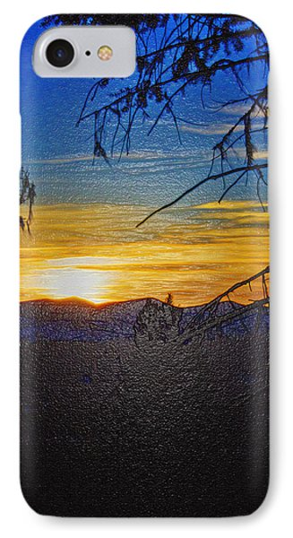 IPhone Case featuring the photograph Sunset Mountain To Mountain by Janie Johnson