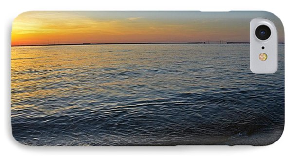 Sunset Near Chesapeake Bay Bridge IPhone Case by Marianna Mills