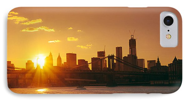 City Sunset iPhone 7 Case - Sunset - New York City by Vivienne Gucwa