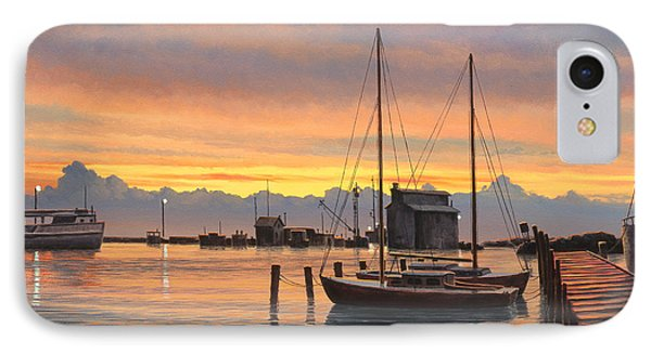 Sunset-north Dock At Pelee Island   IPhone Case