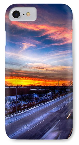 Sunset North Of Chicago 12-12-13 IPhone Case by Michael  Bennett